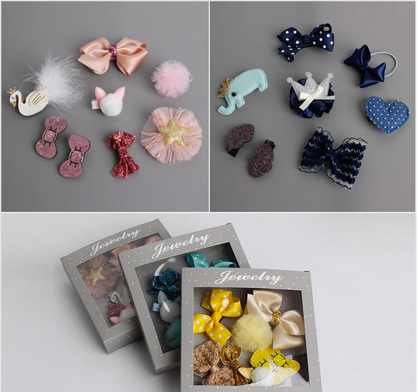 8-piece Hair Clip Set - My Berry Bow