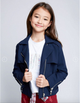 Navy Moto Jacket - My Berry Bow