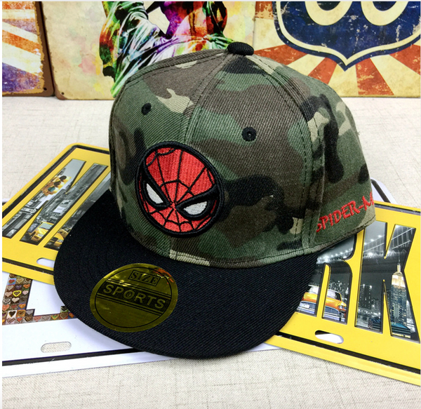 Spiderman Army Fatigue Cap - My Berry Bow