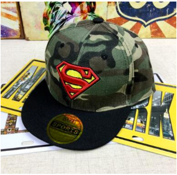 Superman Army Fatigue Cap - My Berry Bow