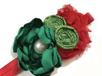 Red and Green Christmas Headband - My Berry Bow