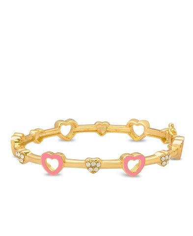 Hearts & Crystals Bangle - My Berry Bow