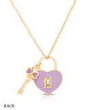 Heart Lock & Key Pendant - My Berry Bow