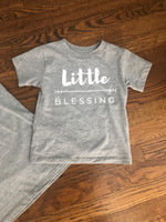 Gray 'Little Blessing' Toddler Shirt