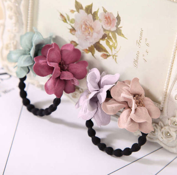 Flower Hair Ties