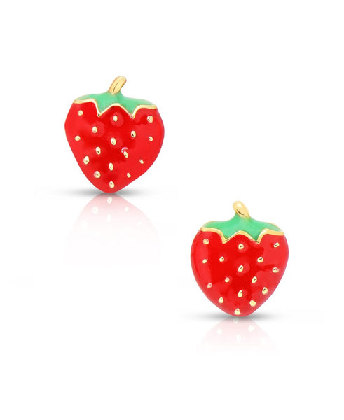 Strawberry Stud Earrings - My Berry Bow