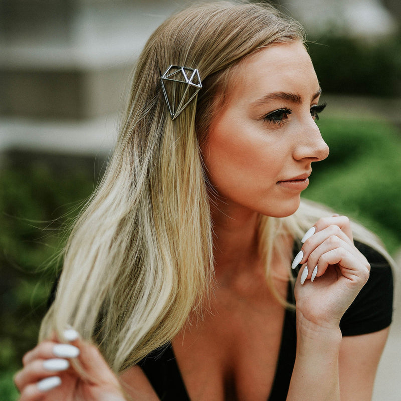 Mandy Minimalist Hair Clip - Gold