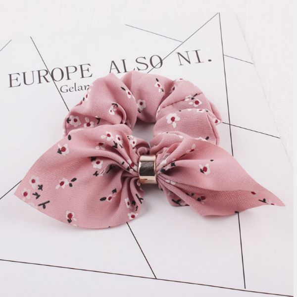 Floral Scrunchies Collection - Floral Pink