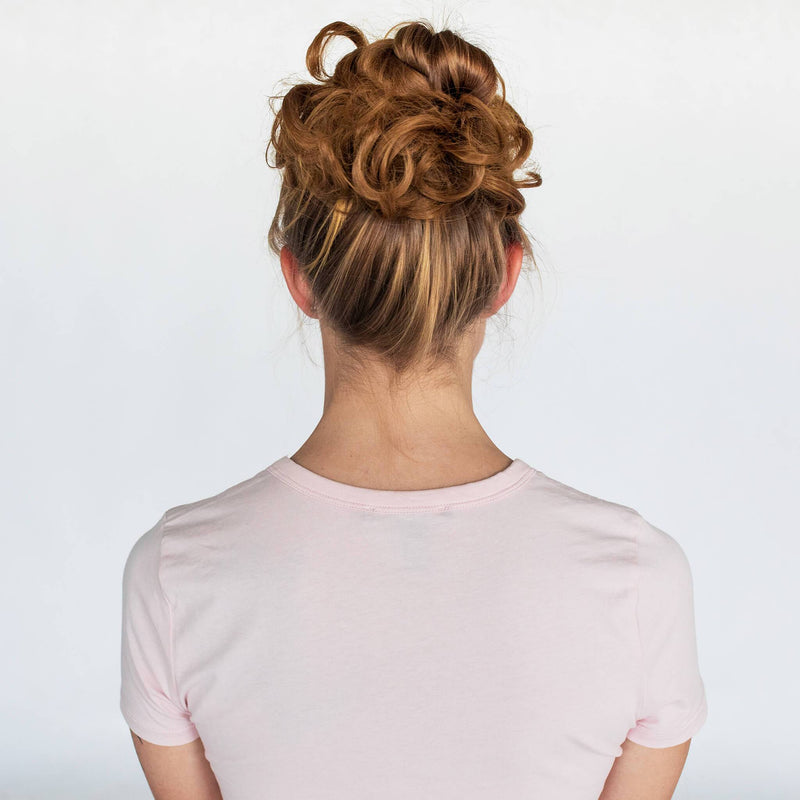 Top Knot Ponytail Holder - Strawberry Blonde