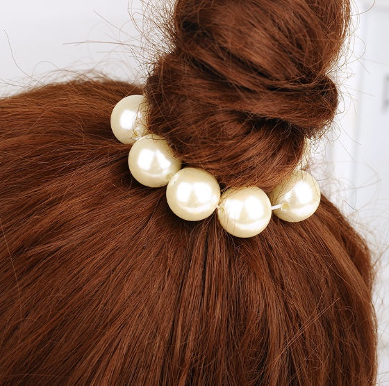 Faux Pearl Ponytail Holder