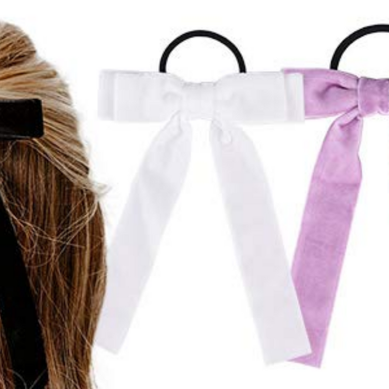 Long Bow Ponytail - White