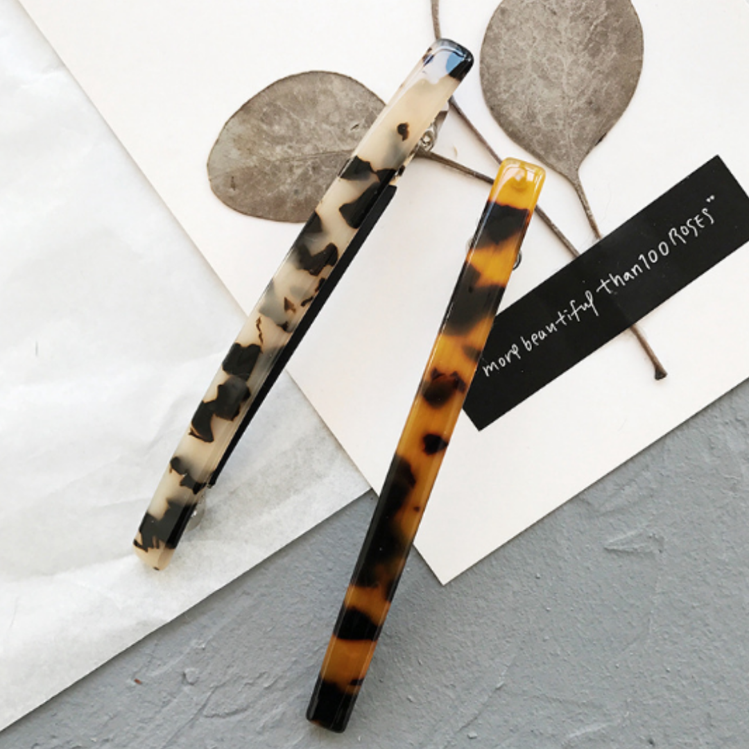 Retro Leopard Print Hairpin 2-Piece Set