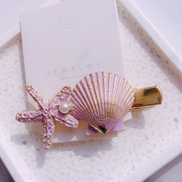 Beach Bound Hair Clip - Purple