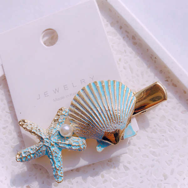 Beach Bound Hair Clip - Blue