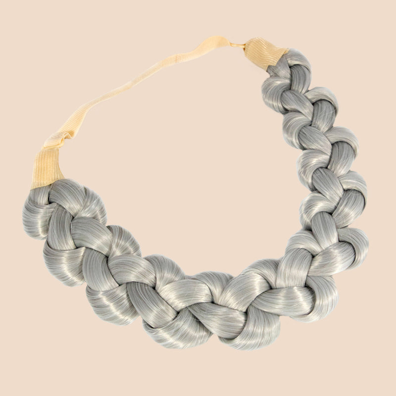 Addie Knots Braid - Silver Grey