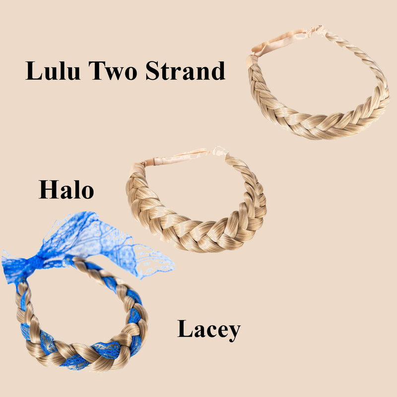 Madison Braid Bundle - Lulu Two Strand, Halo, Lacey - Ashy Highlighted