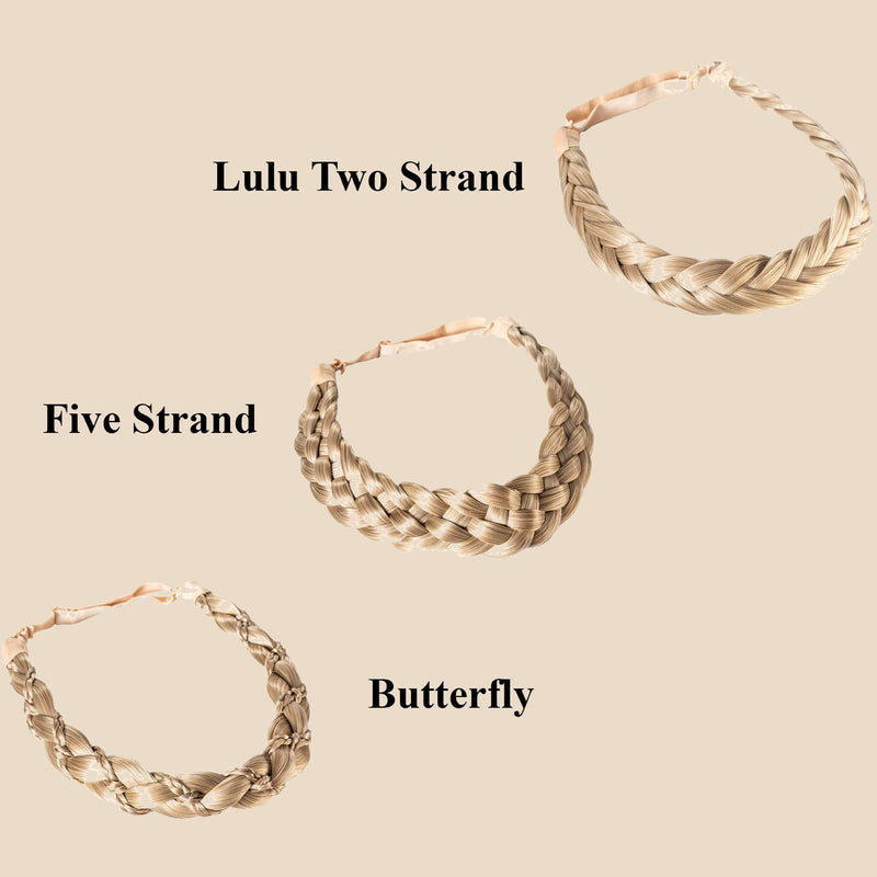 Madison Braid Bundle - Lulu Two Strand, Five Strand, Butterfly - Ashy Highlighted