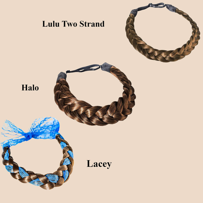 Madison Braid Bundle - Lulu Two Strand, Halo, Lacey - Ashy Light Brown