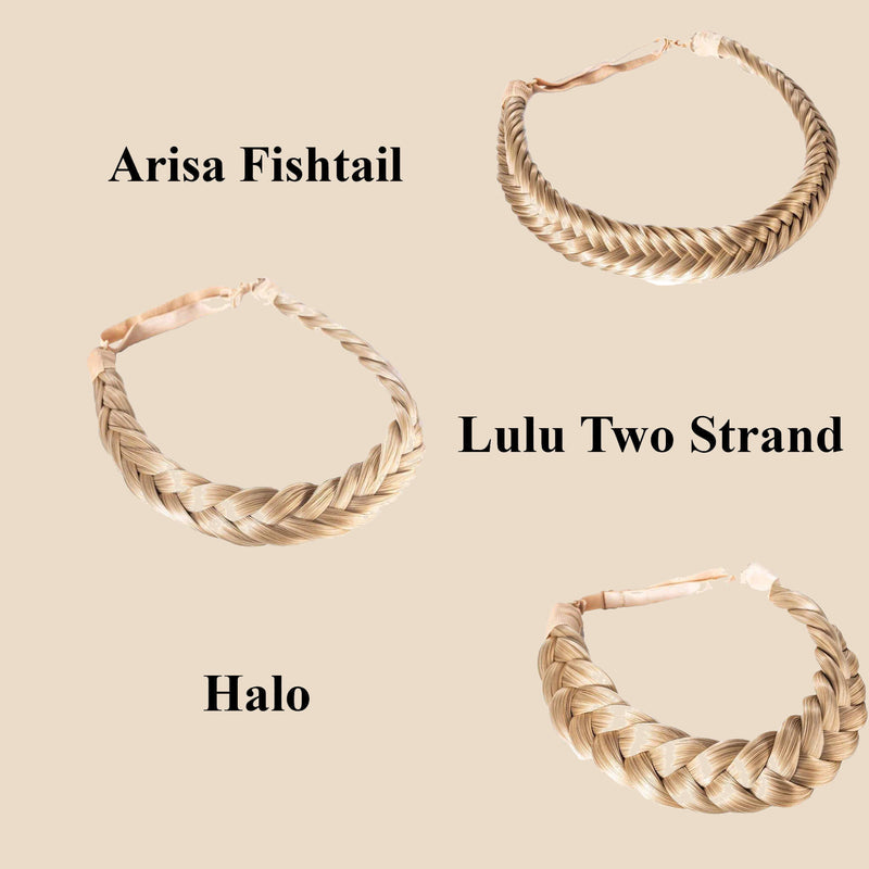 Madison Braid Set - Lulu Two Strand, Arisa Fishtail, Halo - Ashy Highlighted