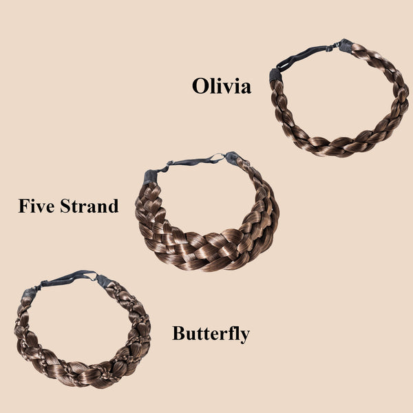 Madison Braid Bundle - Olivia, Five Strand, Butterfly - Brunette