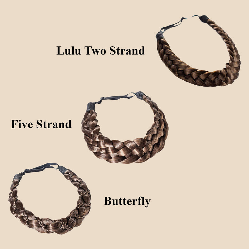Madison Braid Bundle - Lulu Two Strand, Five Strand, Butterfly - Brunette