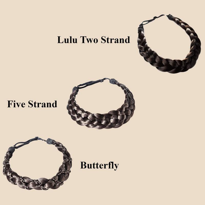 Madison Braid Bundle - Lulu Two Strand, Five Strand, Butterfly - Dark Brown