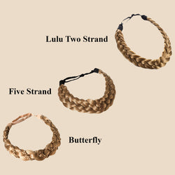 Madison Braid Bundle - Lulu Two Strand, Five Strand, Butterfly - Dirty Blonde