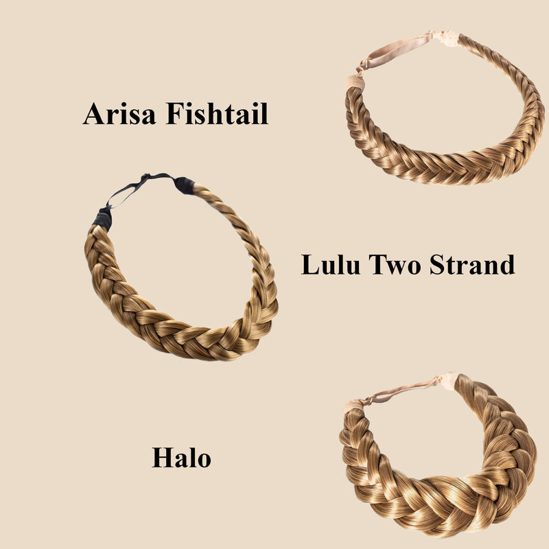 Madison Braid Set - Lulu Two Strand, Arisa Fishtail, Halo - Dirty Blonde