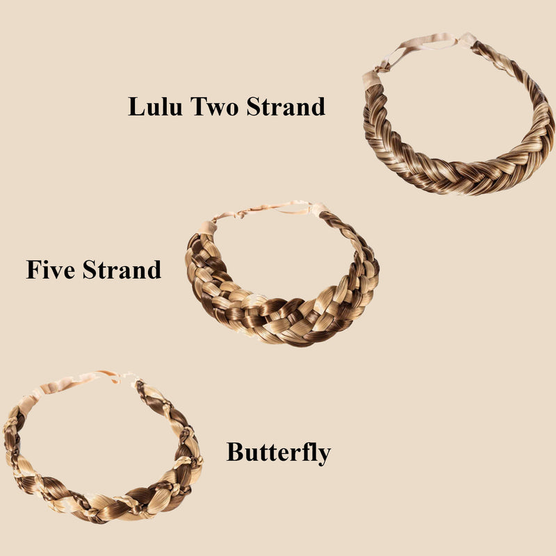 Madison Braid Bundle - Lulu Two Strand, Five Strand, Butterfly - Highlighted