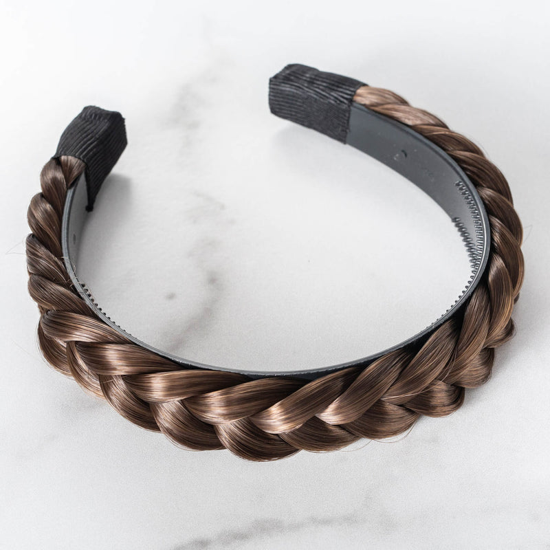 Hard Headband Lulu Two Strand - Brunette