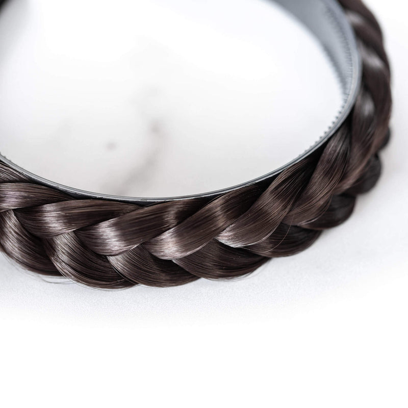 Hard Headband Lulu Two Strand - Dark Brown