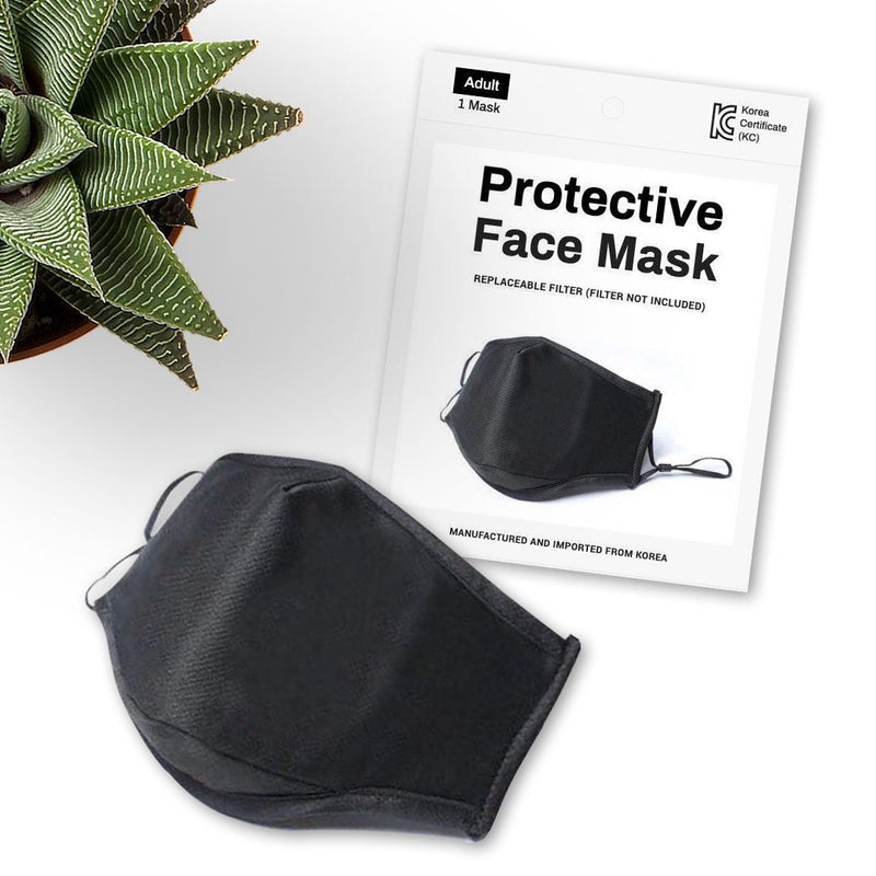 Soft Surrounding Face Mask - 3 Pack - Black