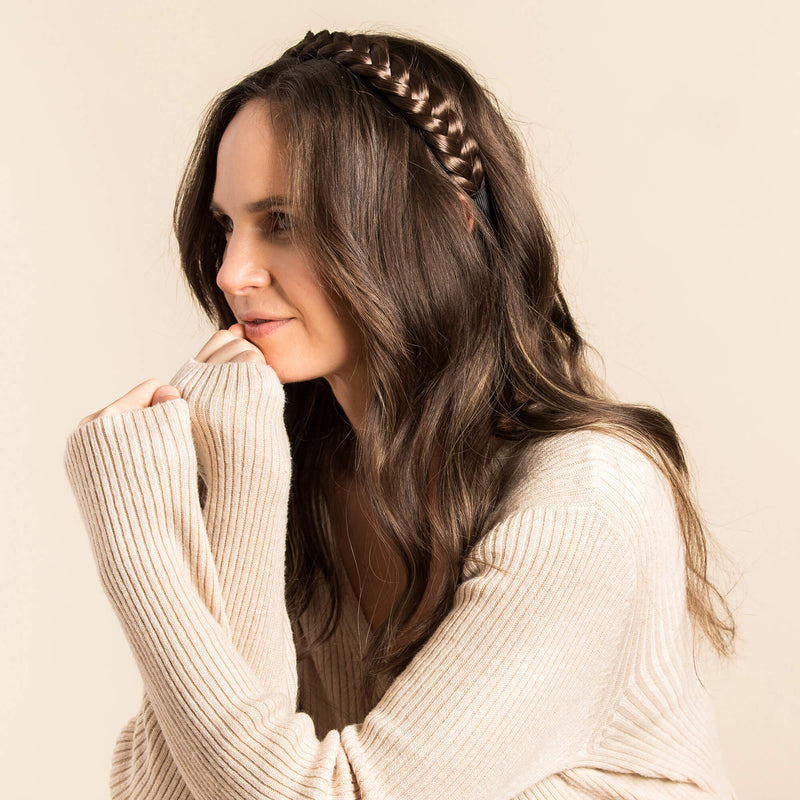Madison Braid Bundle - Lulu Two Strand, Top Knot - Brunette