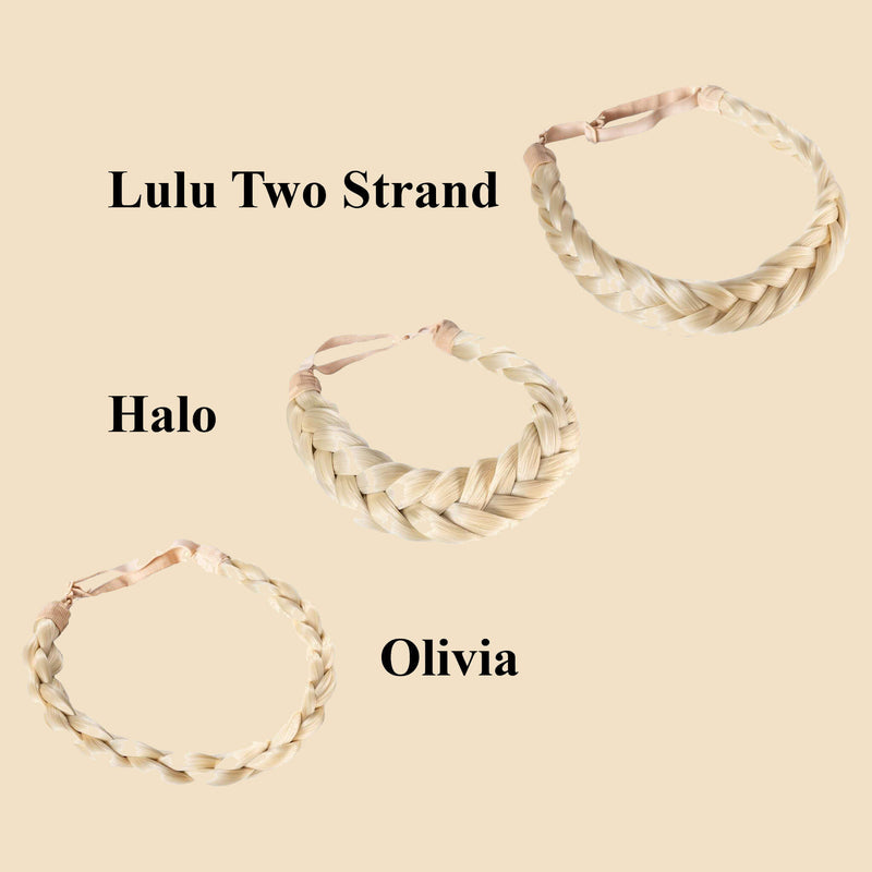 Madison Braid Bundle - Lulu Two Strand, Halo, Olivia - Platinum