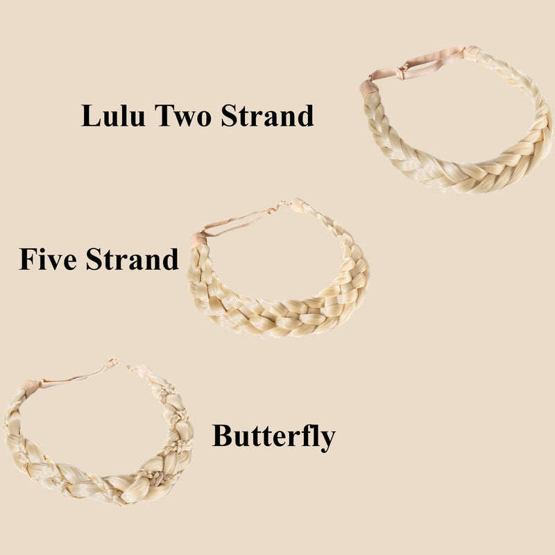 Madison Braid Bundle - Lulu Two Strand, Five Strand, Butterfly - Platinum