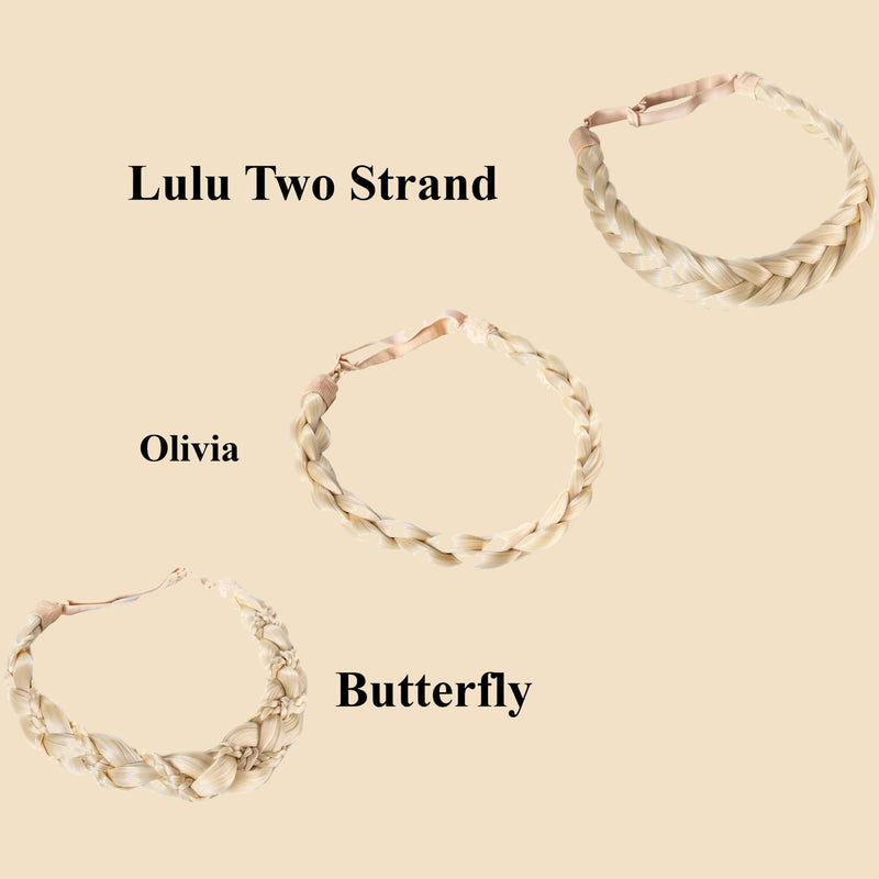 Madison Braid Bundle - Lulu Two Strand, Olivia, Butterfly - Platinum
