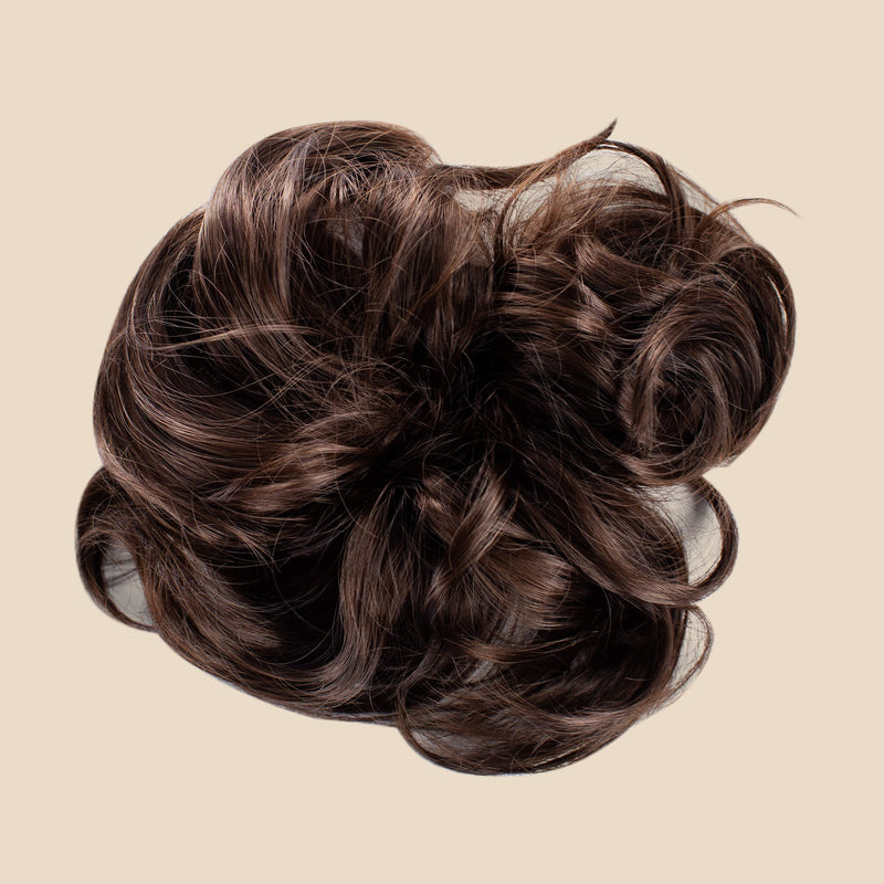 Top Knot Ponytail Holder - Brunette
