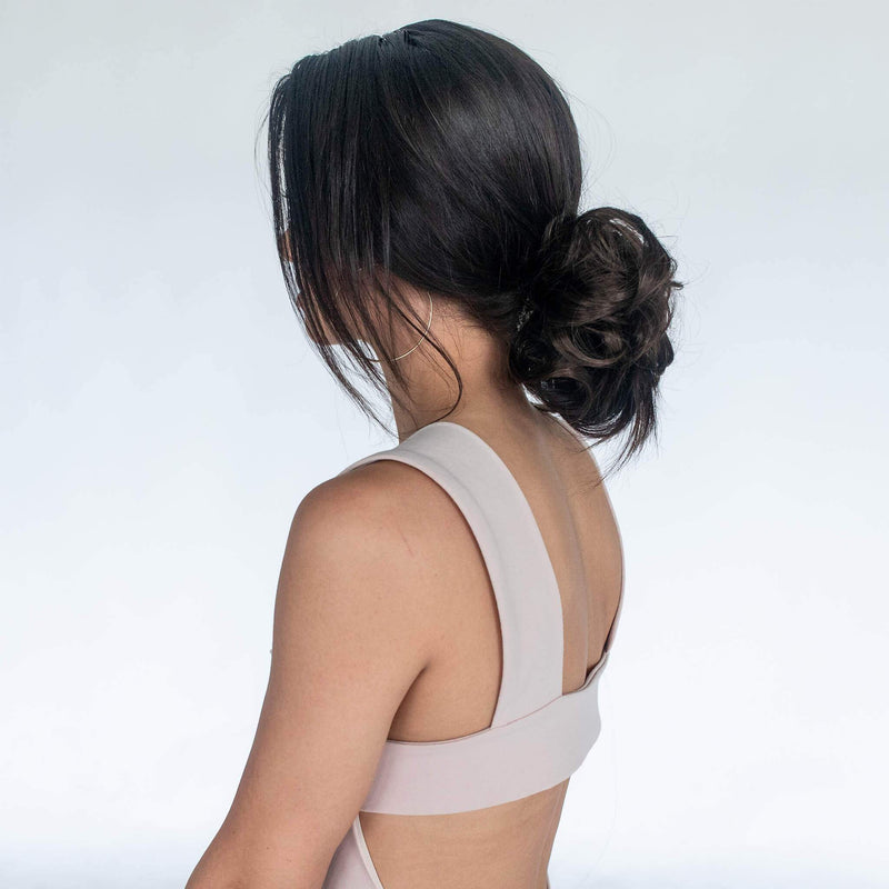 Top Knot Ponytail Holder - Dark Brown