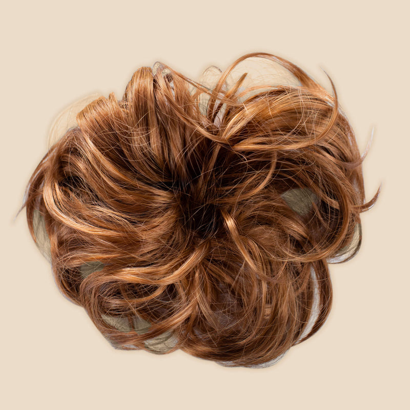 Madison Braid Bundle - Lulu Two Strand, Top Knot + FREE Detangler Brush - Golden Red