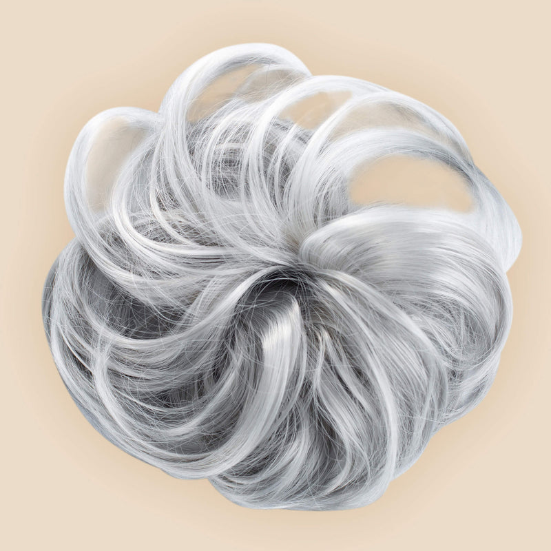 Madison Braid Bundle - Lulu Two Strand, Top Knot + FREE Detangler Brush - Silver Grey