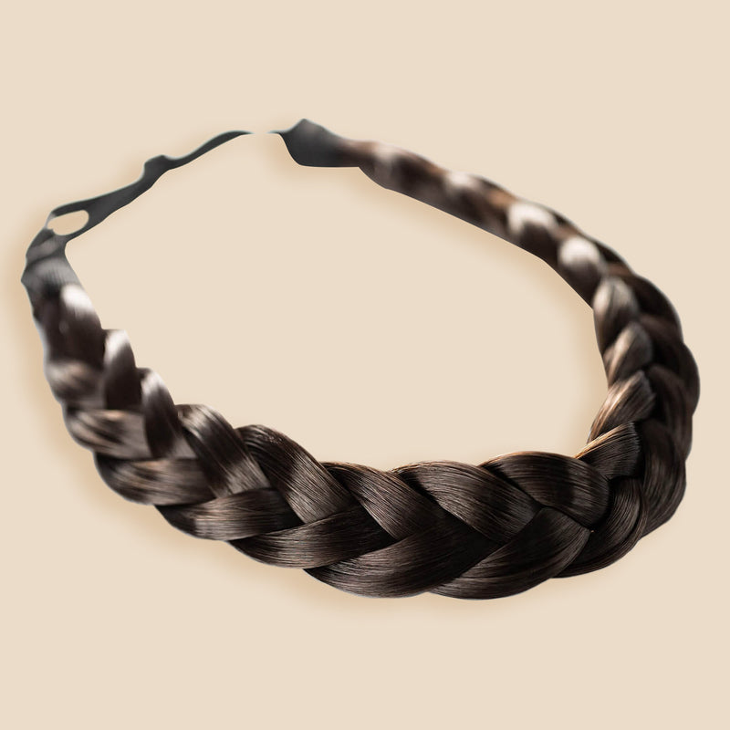 Madison Braid Bundle - Lulu Two Strand, Top Knot - Dark Brown