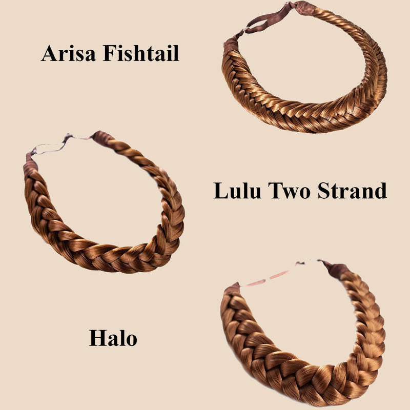 Madison Braid Set - Lulu Two Strand, Arisa Fishtail, Halo - Golden Red