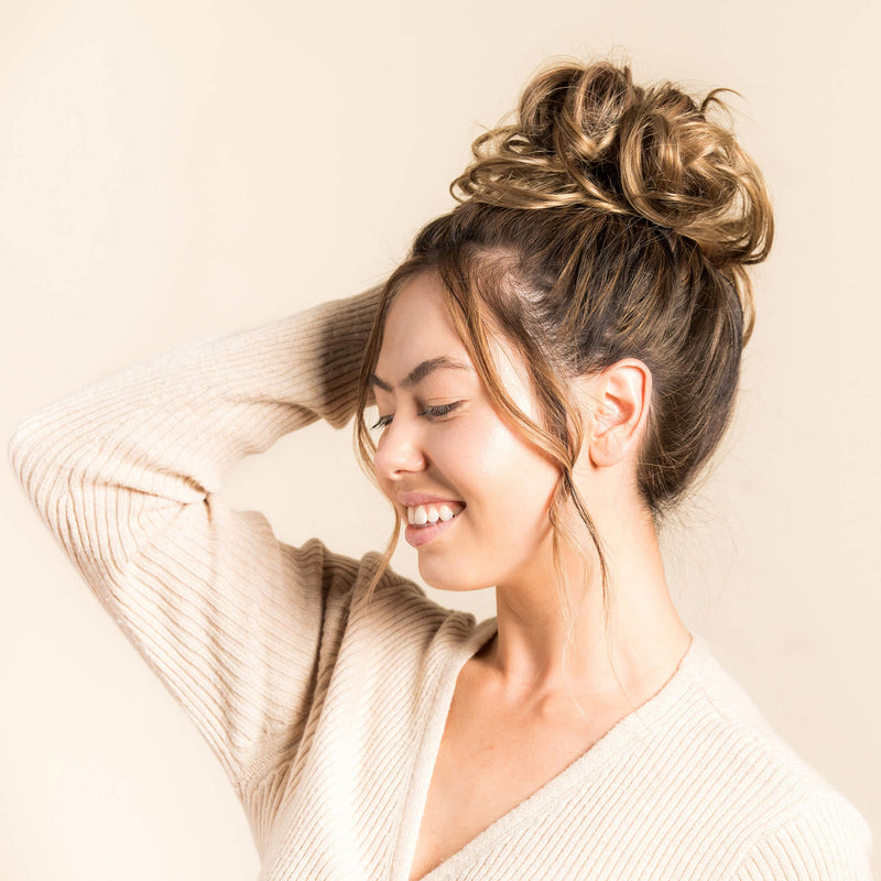 Top Knot Ponytail Holder - Highlighted