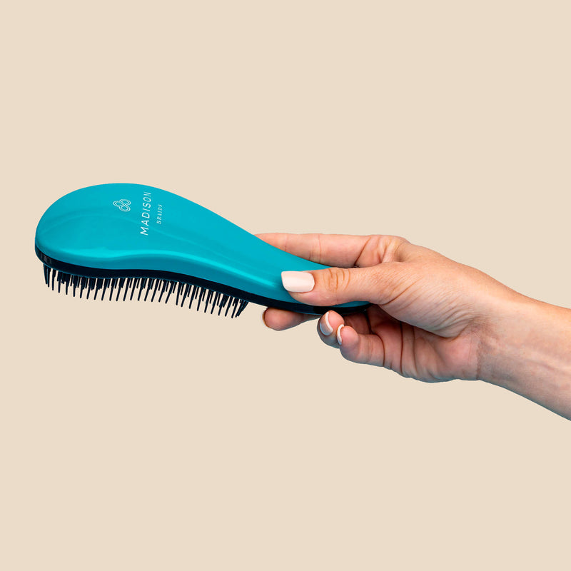 Detangler Brush and Tail Comb Bundle - Blue