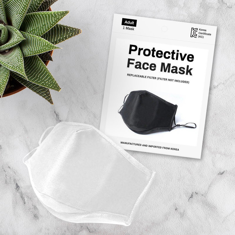 Soft Surrounding Face Mask - 3 Pack - White