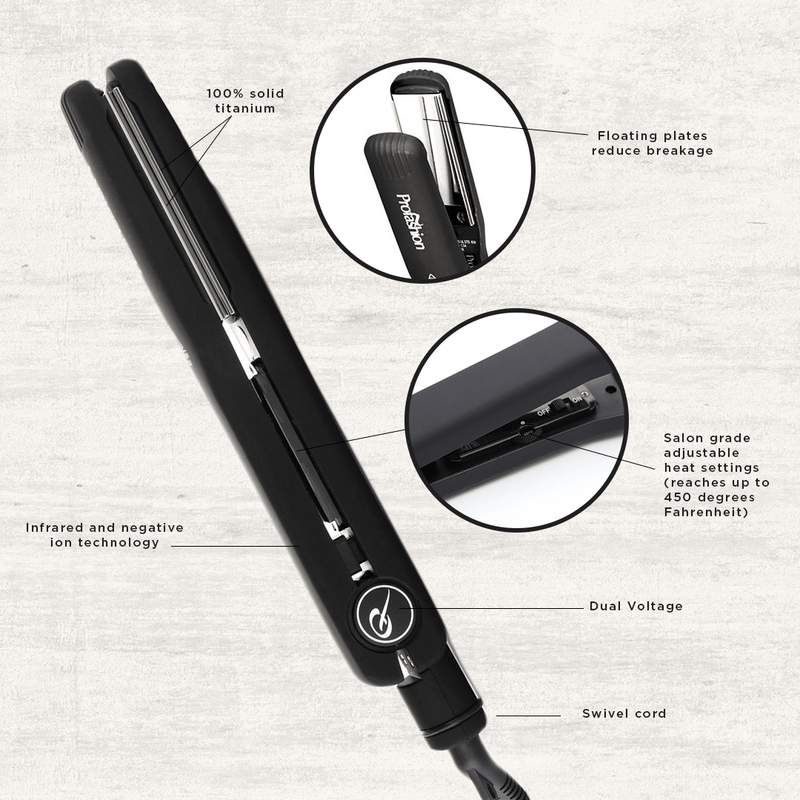 Titanium Flat Hair Iron - Black