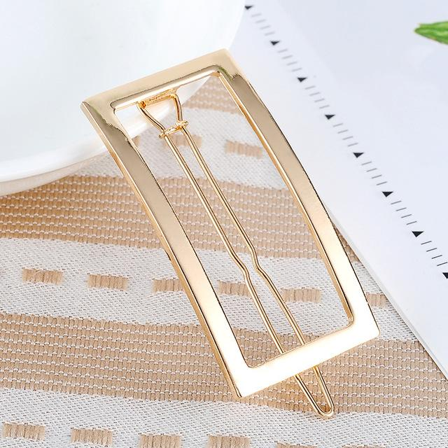 Rogue Rectangular Hair Clip - Gold