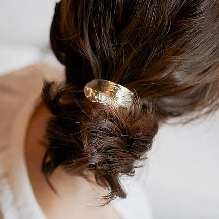 Aubrey Autumn Leaf Ponytail - Gold