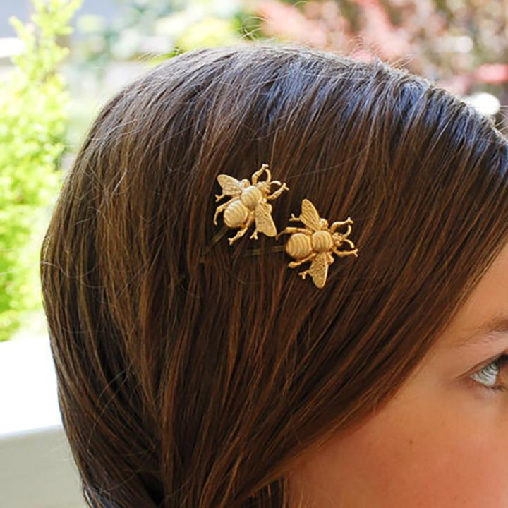 Brandy Bee Hairpin - Gold