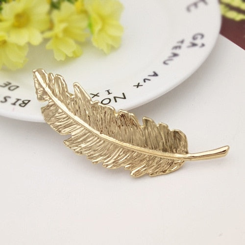 Camari Leaf Hairpin - Gold